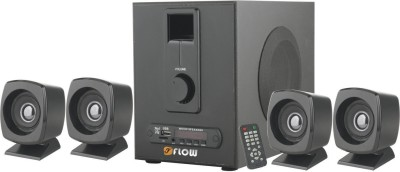 Flow Grande 4.1 Bluetooth FM USB AUX MMC Bluetooth Laptop/Desktop Speaker(Black, 4.1 Channel)