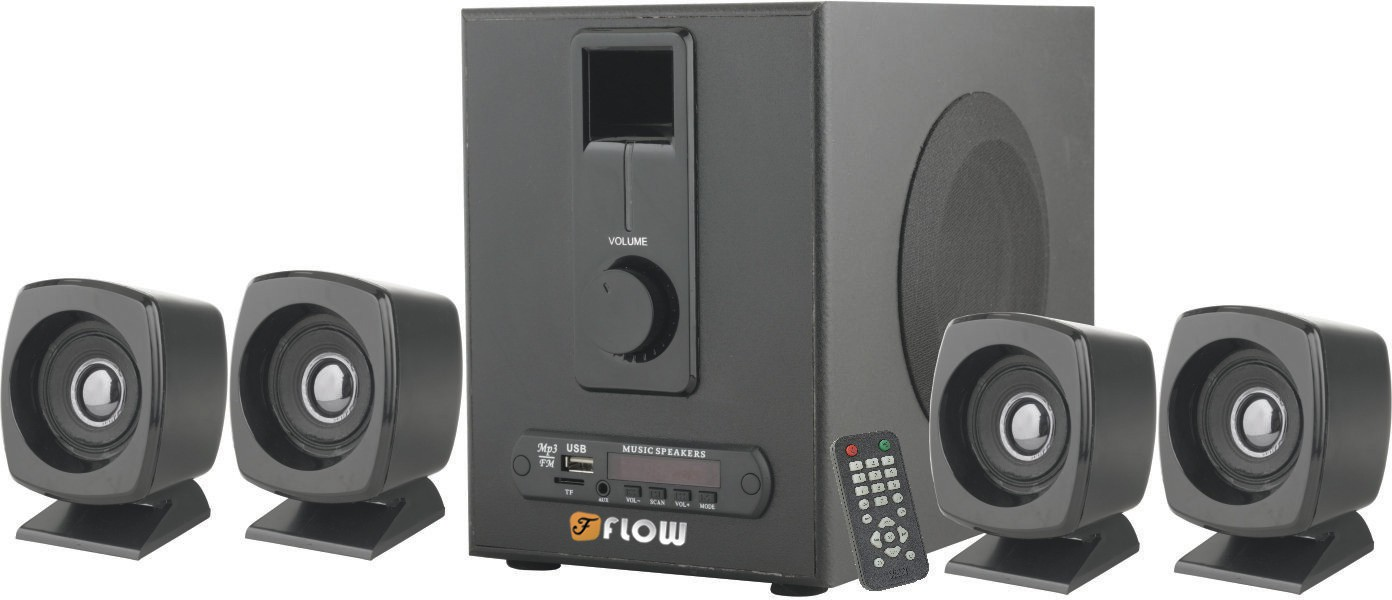 Flow Grande 4.1 Bluetooth FM USB AUX MMC Bluetooth Laptop/Desktop Speaker(Black, 4.1 Channel)