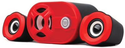 Hiper Song qhm6200 Laptop/Desktop Speaker(Red, Black, 2.1 Channel)