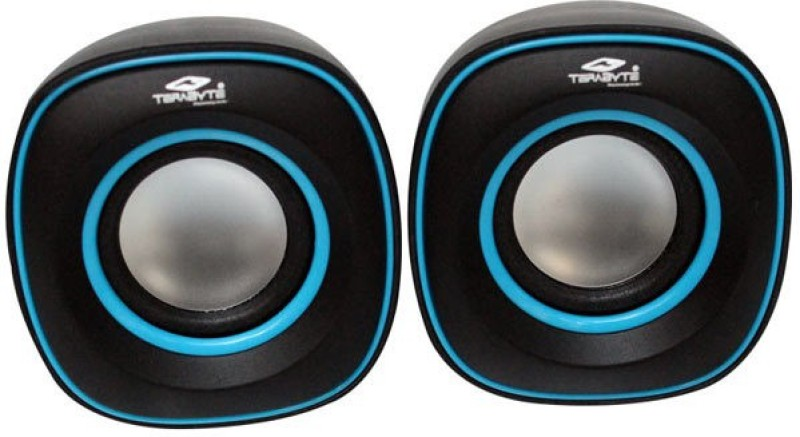 Tera byte TB-015 Portable Laptop/Desktop Speaker(Black and Blue, 2.0 Channel)