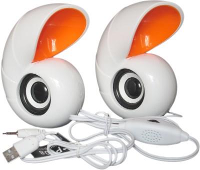 Ubique UBON CP-008 Portable Laptop/Desktop Speaker(White, 2.0 Channel)