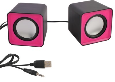 eGizmos F-C1 Square Shape Mini Multimedia Laptop/Desktop Speaker