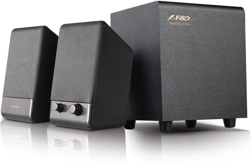 F&D F313U Laptop/Desktop Speaker(Black, 2.1 Channel)