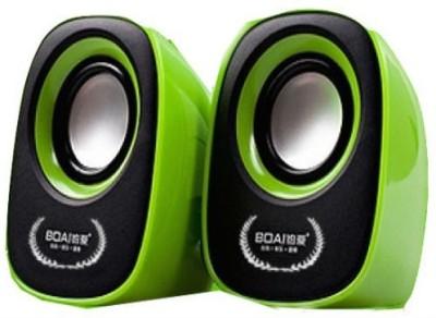 Shrih USB Mini Speaker Portable Laptop/Desktop Speaker(Green, 2.0 Channel)