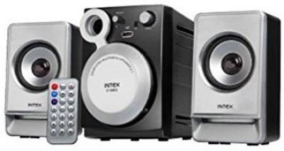 Intex IT-890U Multimedia Laptop/Desktop Speaker(Black, Silver, 2.1 Channel)