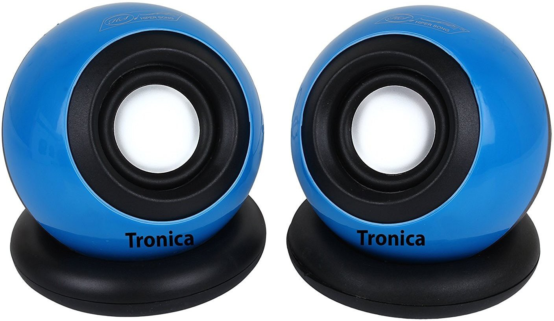 Tronica Dual Computer Laptop/Desktop Speaker(Blue, 2.0 Channel)