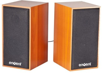 Envent Truewood 210 Portable Laptop/Desktop Speaker(Brown, 2.0 Channel)