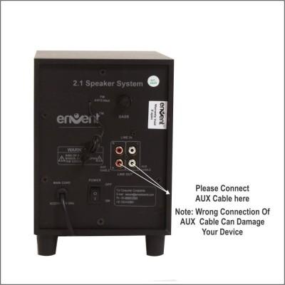 Envent DeeJay SynerG ET-SP21329 Laptop/Desktop Speaker(Black, 2.1 Channel)