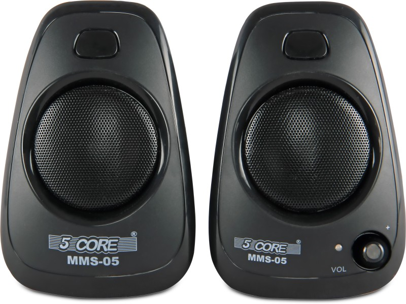 5 Core Multimedia SPK 05 For Computer Portable Laptop/Desktop Speaker(Black, 2 Channel)