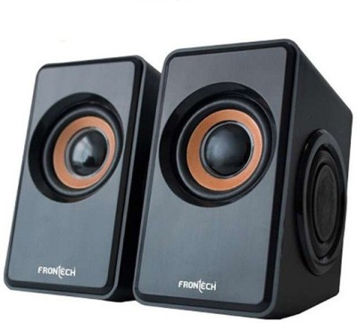 Frontech 3400 Laptop/Desktop Speaker(Black, 2.0 Channel)