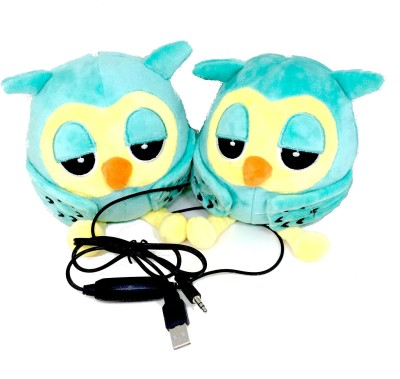 Shrih Green Bird Soft Toy With Portable Laptop/Desktop Speaker(Green, 2.1 Channel)