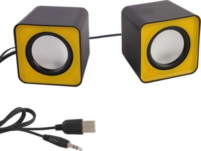 eGizmos F-C1 Square Shape Mini Multimedia Laptop/Desktop Speaker