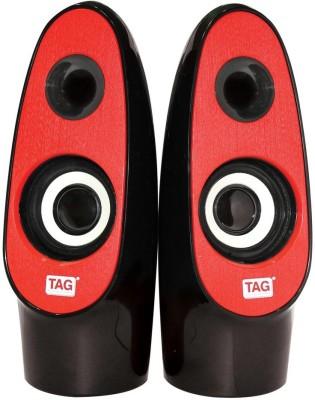 TAG DP-700 Laptop/Desktop Speaker(Red, 2.0 Channel)