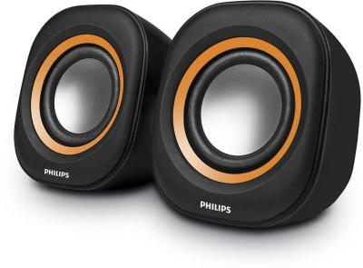 Philips SPA25G/94 Laptop/Desktop Speaker(Orange, Black, 2.0 Channel)