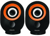 Philips SPA50G/94 Portable Mobile/Tablet Speaker(Black Orange, 2.0 Channel)