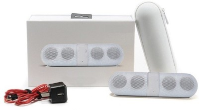 Finger's Limited Edition Pill Big Sound Box White Portable Bluetooth Mobile/Tablet Speaker