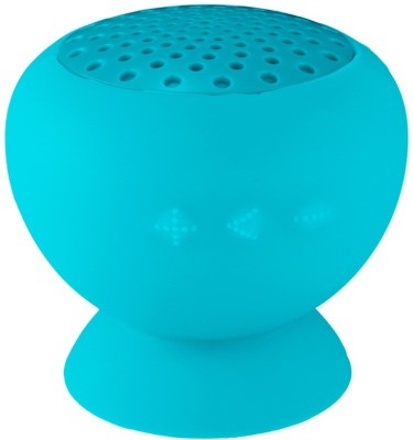 Mobilegear QDOS Q-Bopz Round Compact High Music with Integrated Suction Pad Portable Bluetooth Mobile/Tablet Speaker