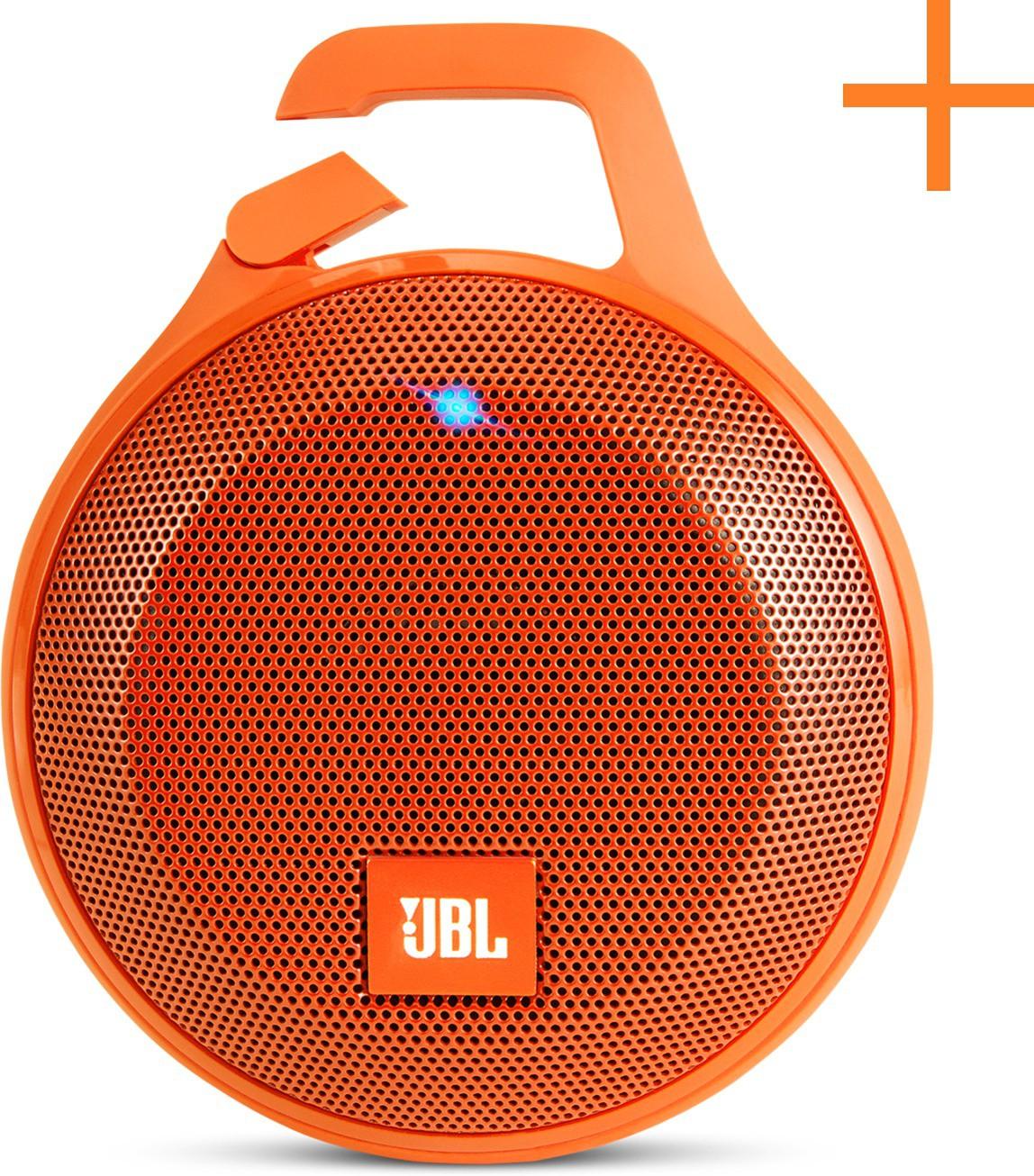JBL Clip+ Splashproof Portable Bluetooth Portable Bluetooth Mobile/Tablet Speaker(Orange, 1.0 Channel)
