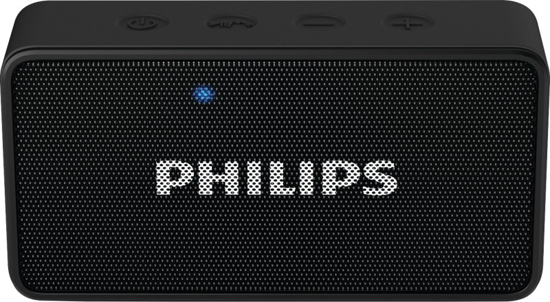 Philips BT64B/94 Portable Bluetooth Mobile/Tablet Speaker(Black, 1 Channel)