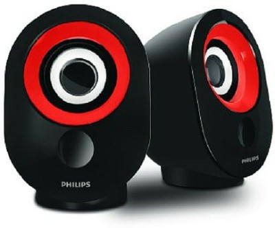 Philips SPA50R/94 Portable Mobile/Tablet Speaker(Red & Black, 2.0 Channel)