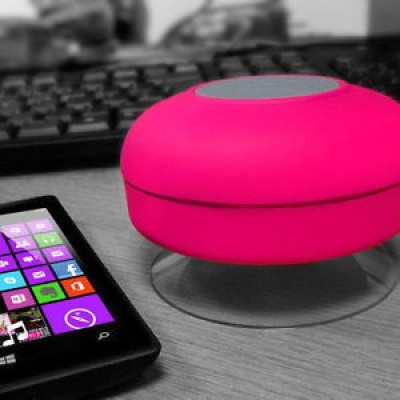 Gadget Bucket Shower Wireless Bluetooth Speaker with In-Built Mic Featur Portable Mobile/Tablet Speaker