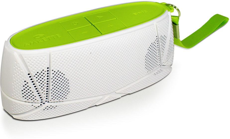 Amkette Trubeats Sonix T30 Portable Bluetooth Mobile/Tablet Speaker(White-Green, 2.1 Channel)