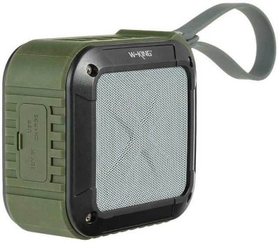 Shopizone W-King Cube Shaped Outdoor water resistant bluetooth speaker Portable Bluetooth Mobile/Tablet Speaker(Green, 2.1 Channel)