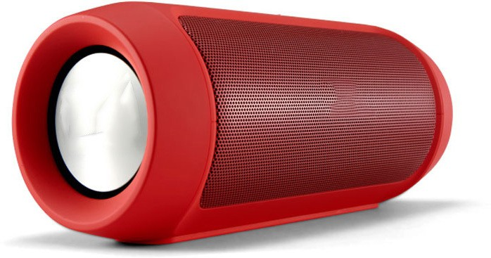 Tirupati Charge 2 Plus Portable Bluetooth Mobile/Tablet Speaker(Red, 2.1 Channel)
