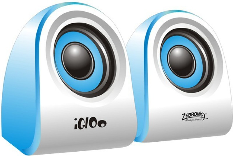 Zebronics Igloo USB Speakers(Blue, 2 Channel)