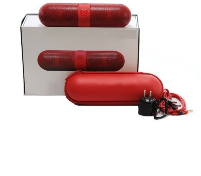 Finger's Limited Edition Pill Big Sound Box Red Portable Bluetooth Mobile/Tablet Speaker