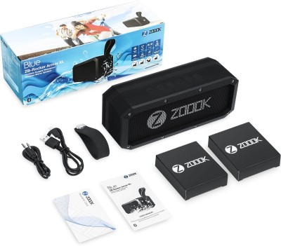 Zoook Rocker Armor XL Portable Bluetooth Mobile/Tablet Speaker(Black, Single Unit Channel)