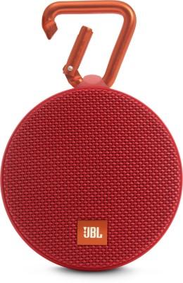 JBL CLIP 2 RED Portable Bluetooth Mobile/Tablet Speaker(Red, 2.0 Channel)