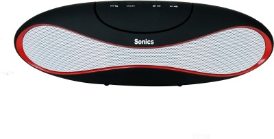 Sonics SL-BS39FM Portable Bluetooth Mobile/Tablet Speaker(Black, Red, White, 2.1 Channel)