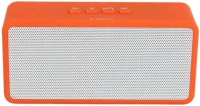Yuvan SL - BS72 FM USB/ SD Player With Mic Portable Bluetooth Mobile/Tablet Speaker(Orange, Stereo Channel)