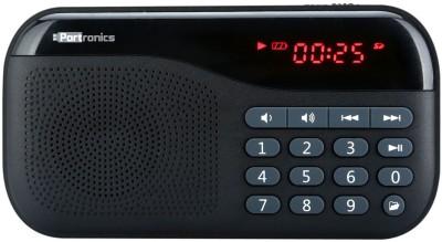 Portronics Plugs Portable Mobile/Tablet Speaker(Black, 1 Channel)