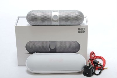 Fingers Limited Edition Pill Big Sound Box Silver Portable Bluetooth Mobile/Tablet Speaker