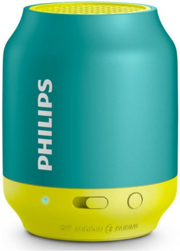 Philips BT50A/00 Portable Bluetooth Mobile/Tablet Speaker(Green Yellow, Single Unit Channel...