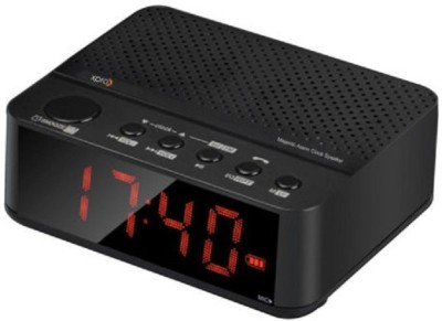 Xpro Majestic Alarm Clock Speaker Portable Bluetooth Mobile/Tablet Speaker(Black, 1 Channel)