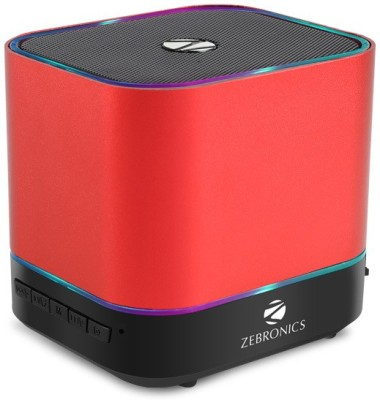Zebronics DICE Portable Bluetooth Mobile/Tablet Speaker(Red, Stereo Channel)