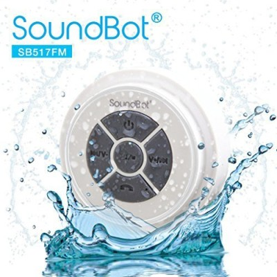 SoundBot Sb517Fm Fm Radio Bluetooth Wireless Speaker Handsfree Portable Speakerphone W/ Military Grade Ipx Level 7 Total Waterproof Portable Bluetooth Mobile/Tablet Speaker