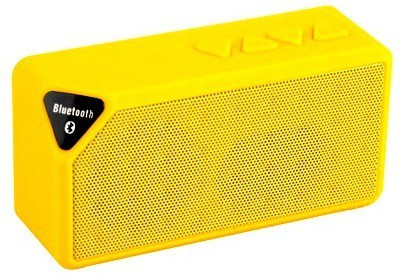 Adcom Mini-X3 Wireless _Yellow Portable Bluetooth Mobile/Tablet Speaker