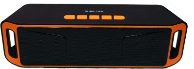 Yuvan BS - 113 FM Portable Bluetooth Mobile/Tablet Speaker(Orange, Stereo Channel)