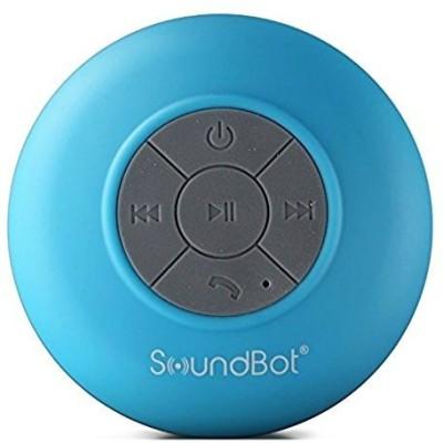 SoundBot SB510 HD Water Resistant Bluetooth 3.0 Shower Portable Speakerphone Portable Bluetooth Mobile/Tablet Speaker(Blue, 2.1 Channel)