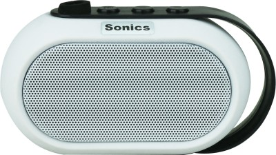 Sonics IN-BT504 Portable Bluetooth Mobile/Tablet Speaker(White, single unit Channel)