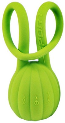 Shrih Mini Wireless Green Pumpkin Silicone Waterproof Portable Mobile/Tablet Speaker(Green, 2.1 Channel)