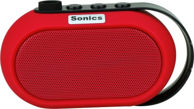 Sonics IN-BT504 Portable Bluetooth Mobile/Tablet Speaker(Red, single unit Channel)