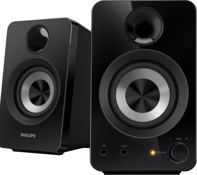 Philips SPA1260/12 Portable Laptop/Desktop Speaker(Black, 2.0 Channel)
