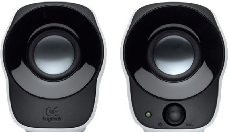 Logitech Stereo Speakers Z120(Black, White, 2.0 Channel)