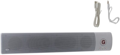 HashTag Glam 4 Gadgets Bluetooth Sound Bar With MIC, USB, TF Card 1520 Portable Bluetooth Soundbar(White, 2.1 Channel Channel)