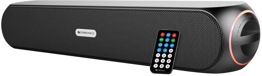 Zebronics WonderBar Portable Soundbar(Black, NA Channel)